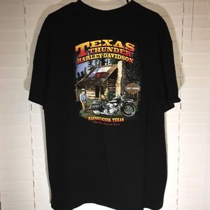Vintage Old Texas Black T Shirt Harley Davidson